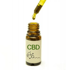 CBD Oil Bottle and Dropper