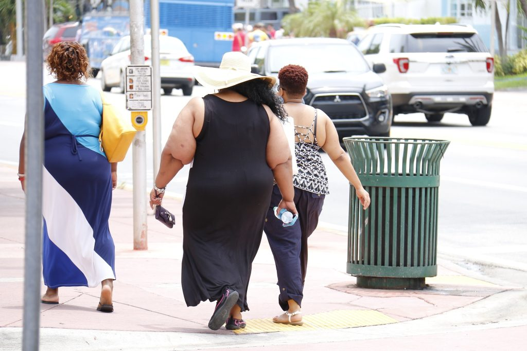 3 obese women