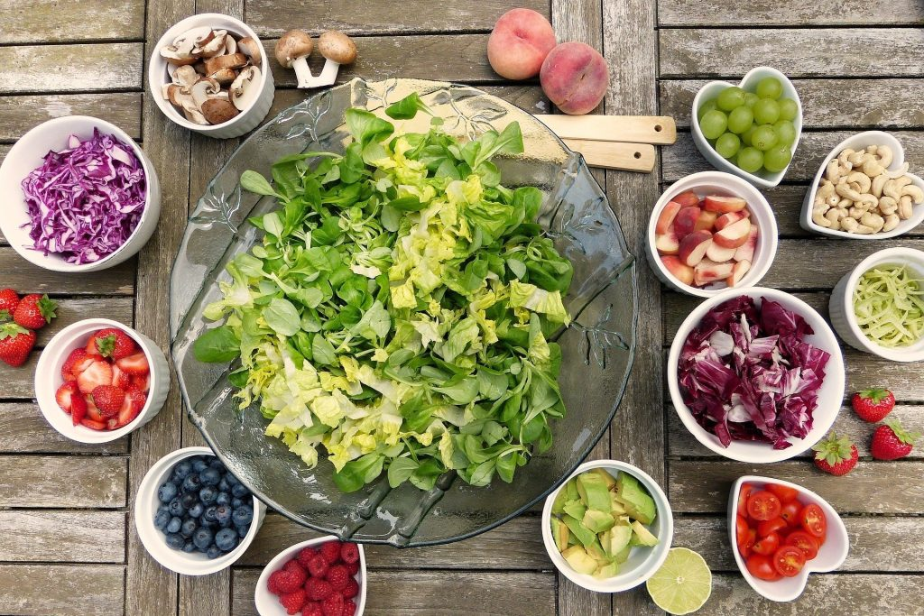 a healthy array of foods